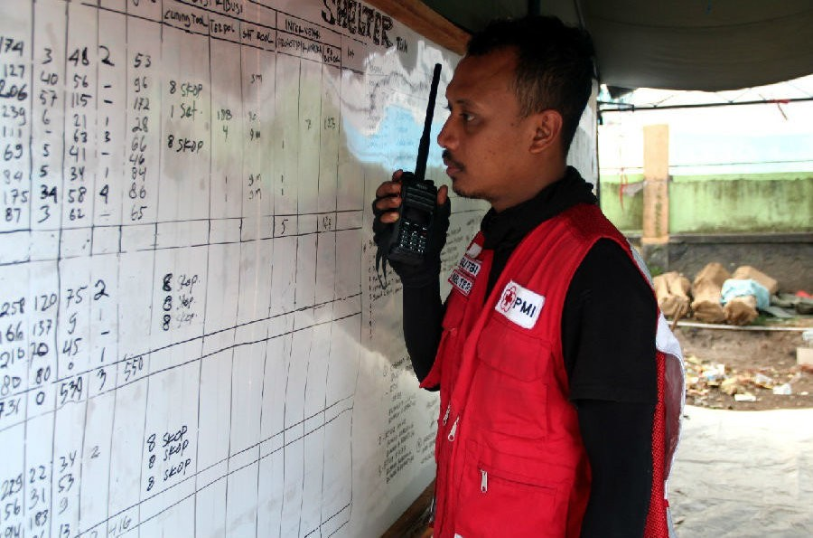 Hytera Device Being Used At Lombok